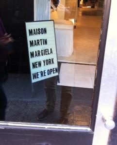Maison Martin Margiela, NYC