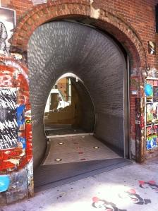 Commes des Garcons entrance, NYC